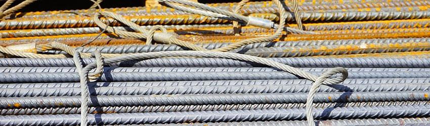 Immagine di barre di ferro utilizzate nel cemento armato