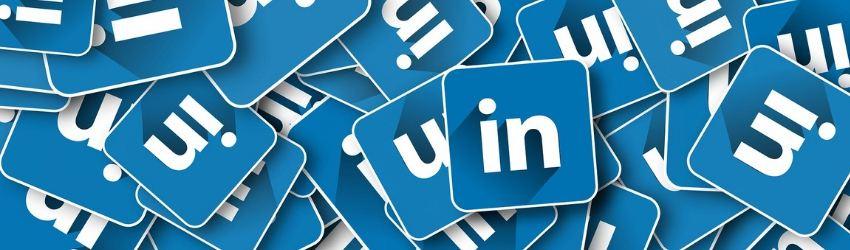 Vendite B2B: tanti loghi di LinkedIn sovrapposti