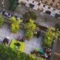 Bonus Verde: terrazzo urbano di un condominio riqualificato con piante e mobilio da esterno