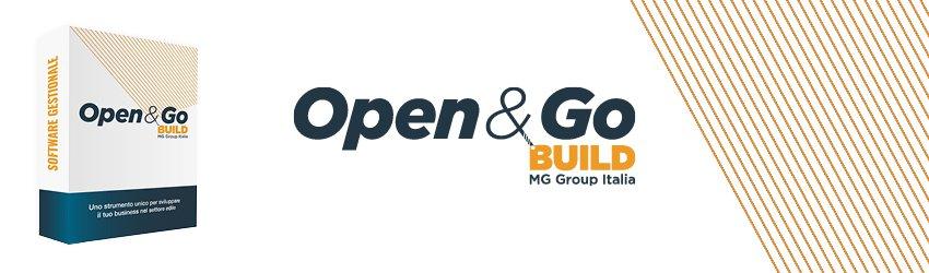 Prototipo del pacchetto CRM e logo Open&Go Build